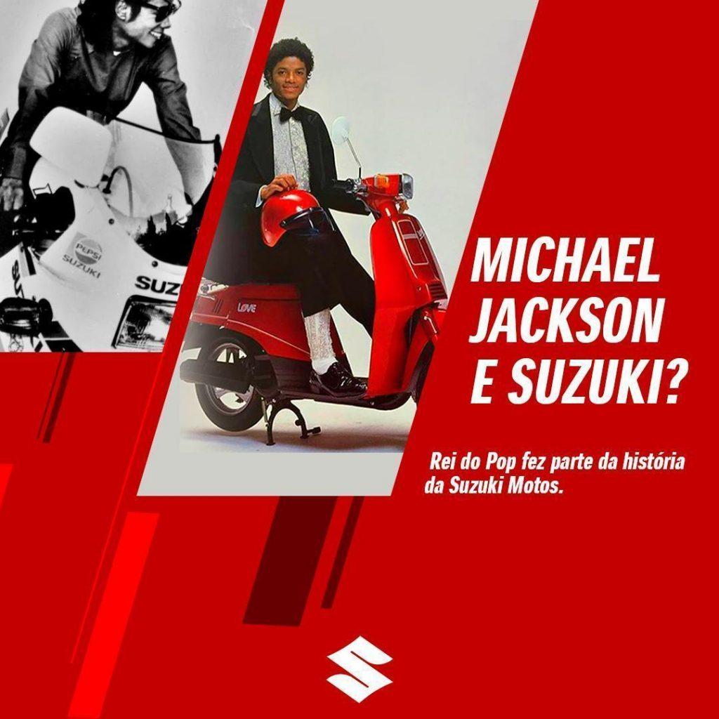 MICHAEL JACKSON E SUZUKI MOTOS. DESCUBRA SOBRE ESSA RELAÇÃO